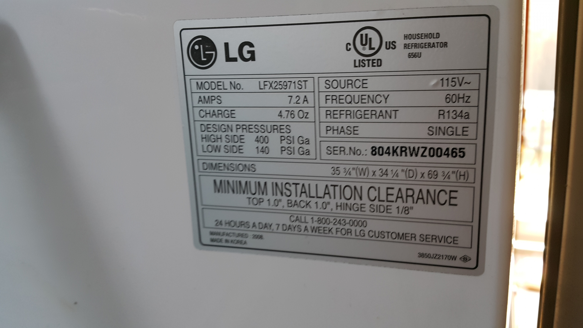 French-door fridge LG LFX25971ST not cooling at all