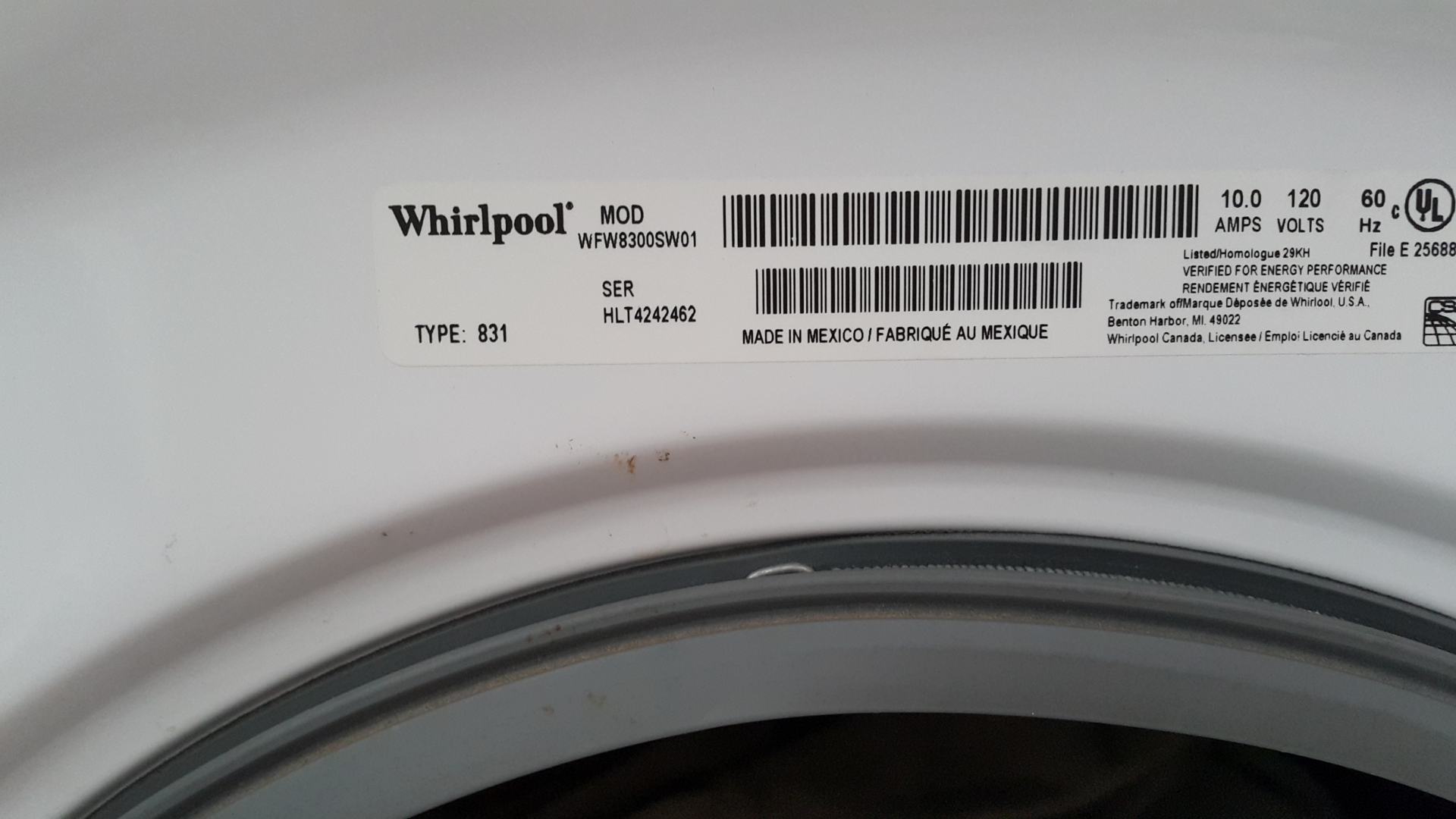 Washer Maytag Neptune MAH3000AWW - leaking water from the front ...