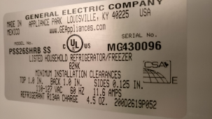 Refrigerator GE PSC25MSTASS - making weird noise when dispensing water- Repair in San Jose, CA.